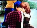 Clannad Tomoya & Nagisa's first kiss - anime photo