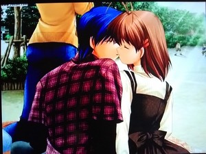 Clannad Tomoya & Nagisa's first kiss