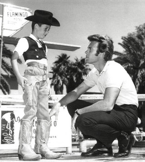 Clint Eastwood in Las Vegas 1960 (during a Rawhide promotion)