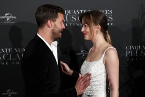 Dakota and Jamie at Paris premiere for Fifty Shades Freed