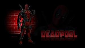 Deadpool kertas dinding Brick dinding 2