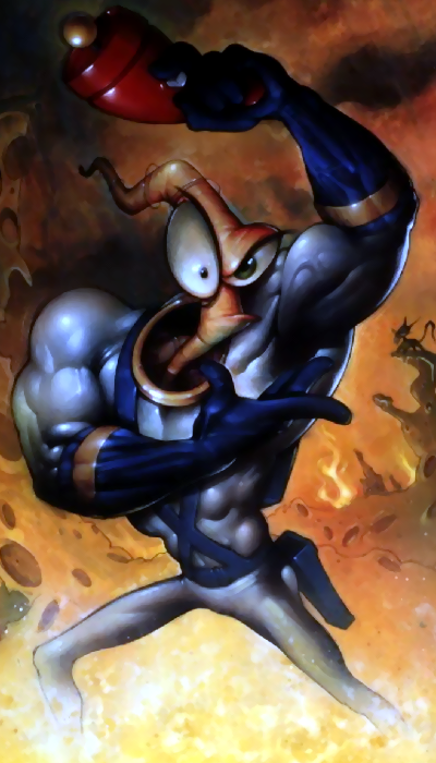Earthworm Jim in What The heak
