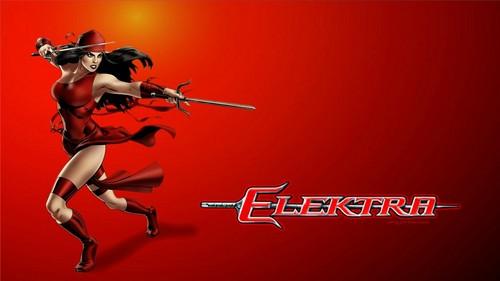 Elektra karatasi la kupamba ukuta titled Elektra Defending