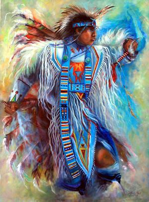 Fancy Dancer Painting par Gail Salitui