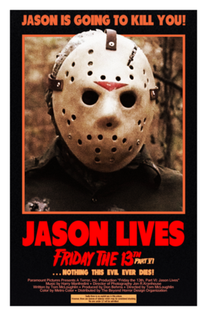 Friday the 13th Part 6: Jason Lives Poster