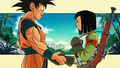 Goku and Android 17 handshake