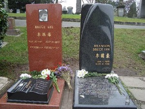 Gravesite Of Bruce And Brandon Lee