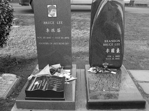Gravesite Of Brandon And Bruce Lee