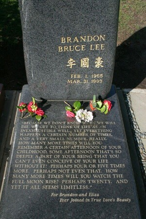 Gravesite Of Brandon Lee