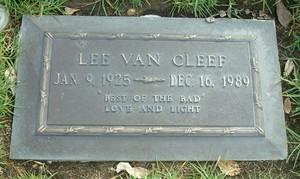 Gravesite Of Lee mobil van, van Cleef