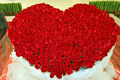 Heart of red roses - love photo