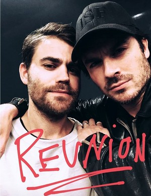 Ian Somerhalder and Paul Wesley 2018 Reunion picture