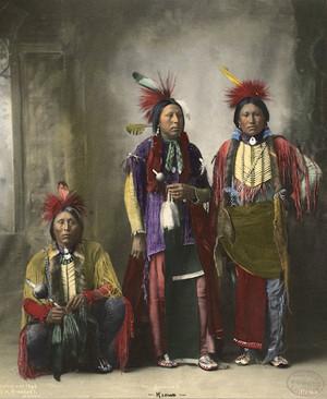 In Summer (Kiowa) 1898 写真 によって F.A. Rinehart (Hand painted)
