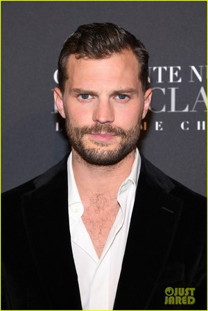 Jamie at the Paris premiere for Fifty Shades Freed