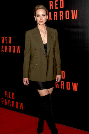Jennifer at Red Sparrow premiere