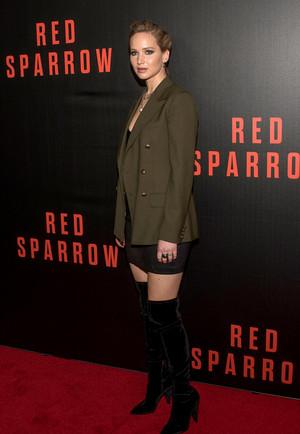 Jennifer at Red Sparrow premiere