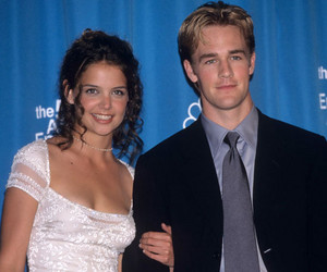 Katie Holmes took James van Der Beek as her tarehe 1998