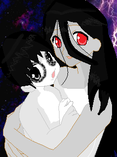 Living Dead Puppen Hintergrund titled KayakoToshio Mother Son time