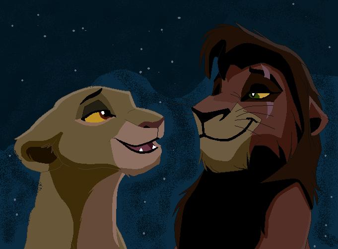 Kiara and Kovu Fanart