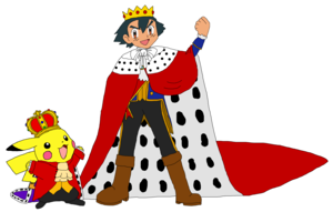 King Ash and King Pikachu
