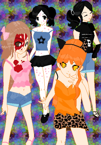 Living Dead Dolls پیپر وال titled LDD Summer clothes
