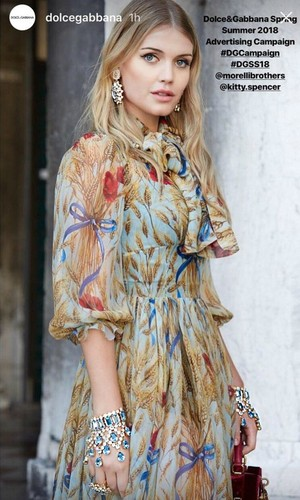 Lady Kitty Spencer Dolce Gabbana Venice 2