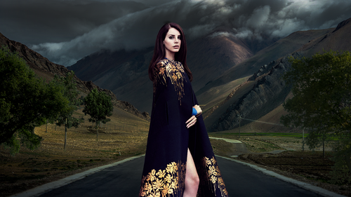 Lana Del Rey karatasi la kupamba ukuta called Lana Del Rey mountain karatasi la kupamba ukuta
