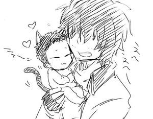 Lightening baby suguro kitten