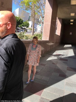 Lisa at court on Wednesday