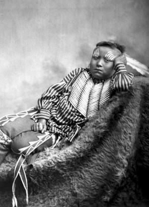 Lone ours (Kiowa) par William Stinson Soule 1869-1874