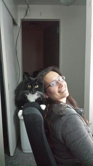 Me and my फ्रेंड्स cat Francis