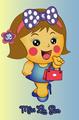 Miss La Sen wearing portemonnee