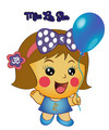 Miss La Sen with balloon