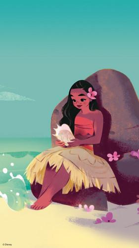 Disney's Moana Hintergrund entitled Moana Phone Hintergrund