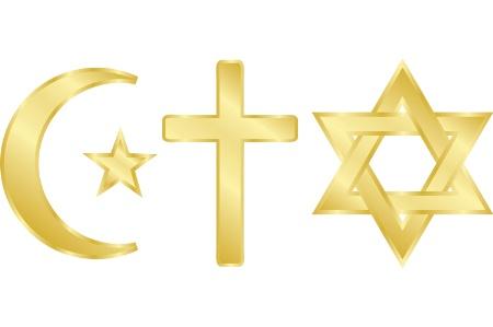 Islam Afbeeldingen Monotheism All 3 Religious Symbols Achtergrond