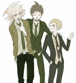 Nagito Komaeda, Fuyuhiko Kazuryu, and Hajime Hinata | Danganronpa