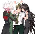 Nagito Komaeda, Izuru Kamukura, and Hajime Hinata | Danganronpa