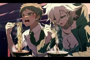 Nagito Komaeda and Hajime Hinata | Danganronpa