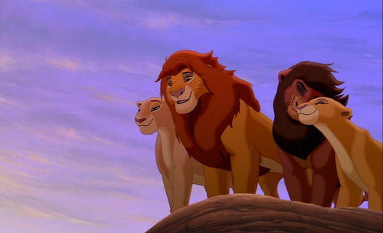 Nala, Simba, Kovu, and Kiara