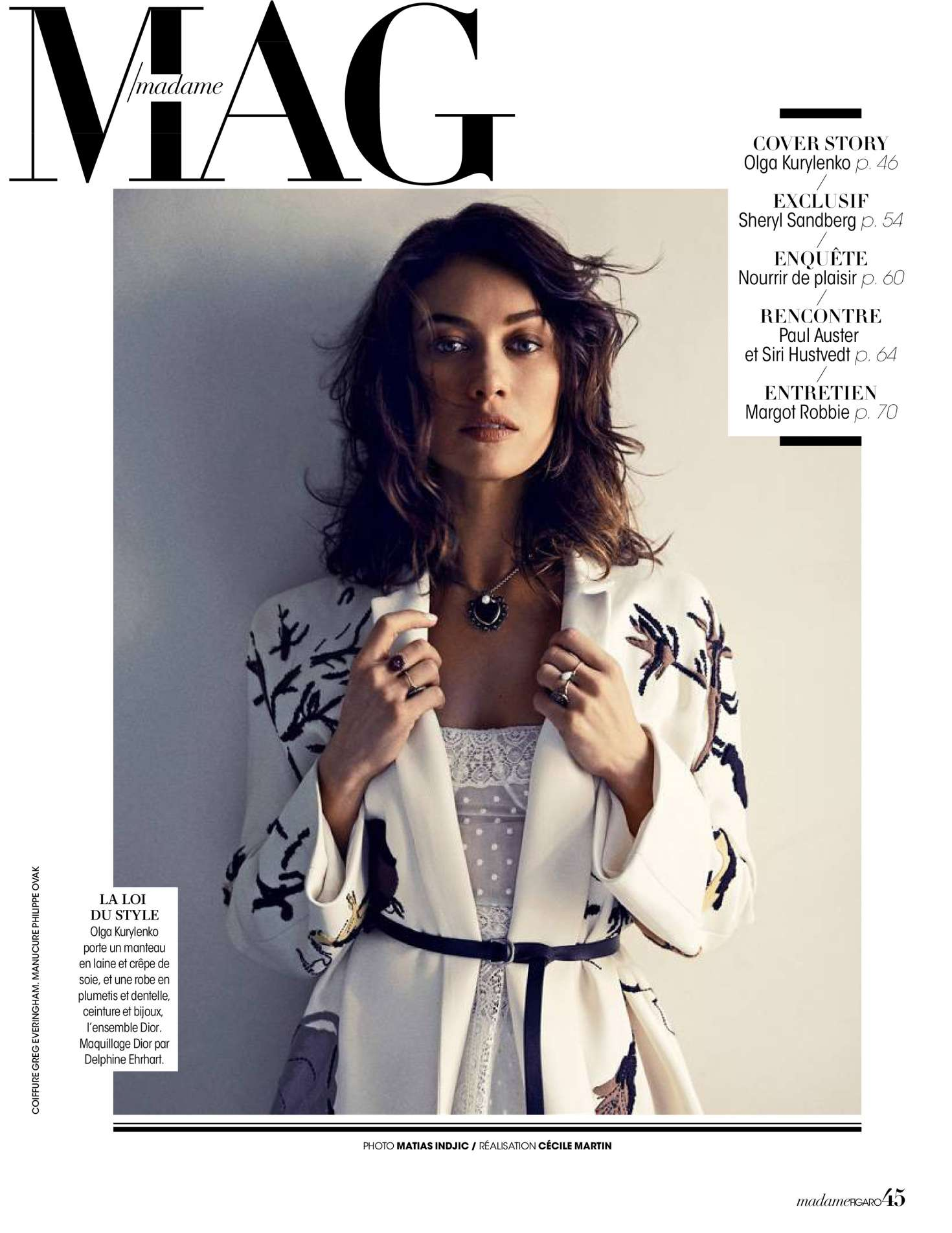 Olga Kurylenko for Madame Figaro [February 2018]