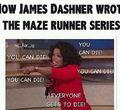 Opra hates Maze runner - the-maze-runner photo