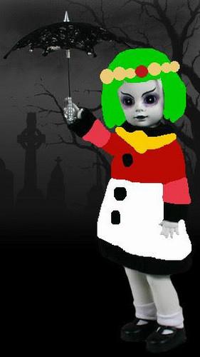 Living Dead Dolls karatasi la kupamba ukuta entitled Palutena