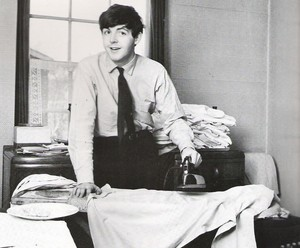 Paul does the ironing