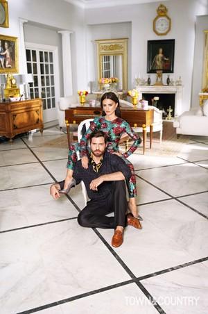Penélope Cruz and Edgar Ramirez for Town & Country [March 2018]