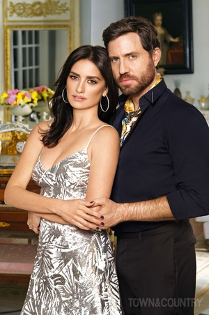 Penélope Cruz and Edgar Ramirez for Town & Country [March 2018]