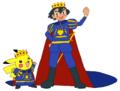 Prince Ash and Prince Pikachu - pokemon fan art