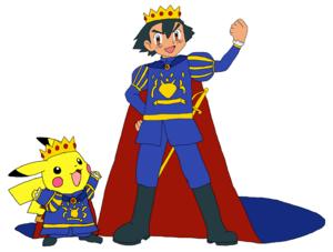 Prince Ash and Prince pikachu