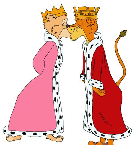 Walt Disney's Robin Hood wallpaper titled Prince John and his princess