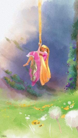 Rapunzel Phone kertas dinding