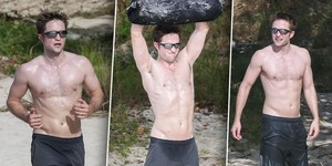 Robert on the пляж, пляжный working out